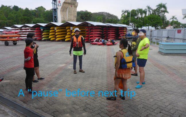 pause before next kayaking trip